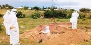 Salome Richard's Burial in Sengerema. Photo Credit: Mwananchi.